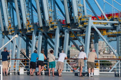 Container Terminal in the Montevideo Stock Image