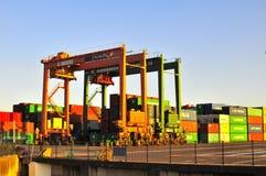 Container Terminal in Odaiba, Tokyo. The container and port terminal in Odaiba, Tokyo Royalty Free Stock Photos