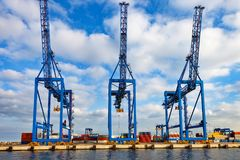 Container Terminal in port Royalty Free Stock Images