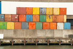Container terminal in the Port of Rotterdam Royalty Free Stock Photos