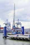 Container terminal Port of Rotterdam, Holland Stock Photo