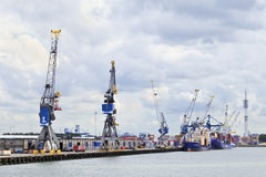 Container terminal Port of Rotterdam, Holland Stock Images