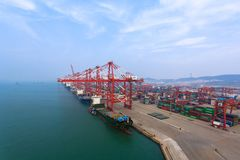 Container terminal Stock Photography