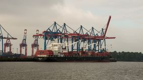 Container Terminal time lapse stock video