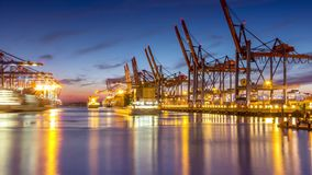 Container Terminal Timelapse stock video