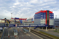 Container Terminal Tollerot Royalty Free Stock Photography