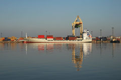 Container terminal. Royalty Free Stock Images