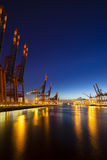 Container Terminals at Night Royalty Free Stock Photo