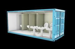 Container of Toilet. Concept of Reuse Container, 3d Illustration. Royalty Free Stock Image