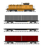 Container train. A vector illustration of container train Royalty Free Stock Images