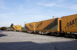 Container train - RAW format stock images