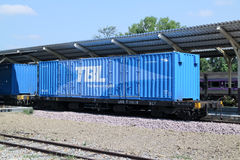 Container Train of Thai Beverage Logistics. Stock Photography