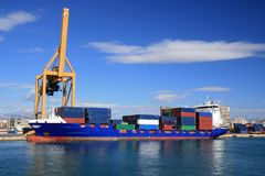 Container transport Stock Photos