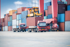 Container transport area Stock Images