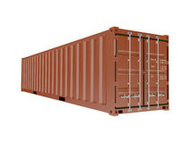 Container for transport of cargo and freight Stock Photo