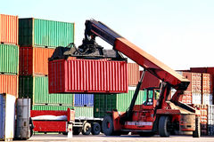 Container transportation Stock Photo