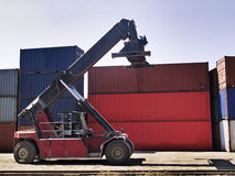 Container transportation machine Stock Image