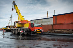 Container transshipment port. Stock Photography