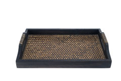 Container, tray, square shape made of wood often using in thaila Stock Photography