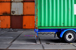 Container truck Royalty Free Stock Photography