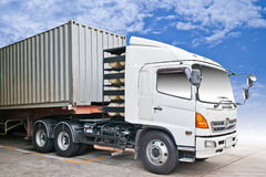 Container truck Royalty Free Stock Images