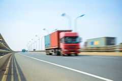 Container truck on  bridge Stock Photography