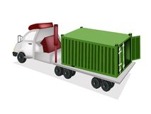 A Container Truck Delivering A Cargo Container Royalty Free Stock Image