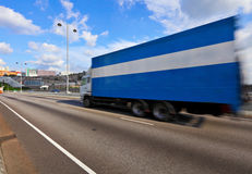 Container truck on highway Stock Images