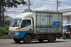 Container Truck of OCS Company Stock Photos