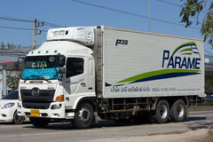 Container truck of Parame Logistics Transportation company Royalty Free Stock Photos