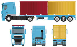 Container Truck Set Royalty Free Stock Photo