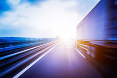 Container truck transport Stock Photography