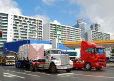 Container trucks Royalty Free Stock Photography