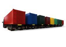 Container Trucks fleet concept Royalty Free Stock Photo