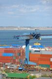 Container under port cargo crane Royalty Free Stock Photo