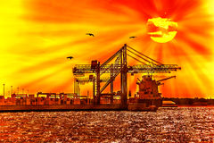 Container under the sun Royalty Free Stock Photography
