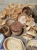 A prepared amount of baskets. royalty free stock photography