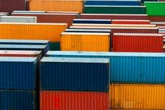 Container variopinti Fotografie Stock