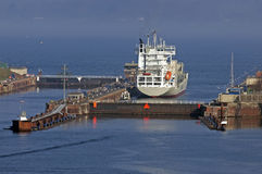 Container vessel Stock Image