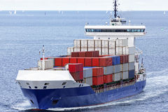 Container vessel on the Baltic Sea Stock Image