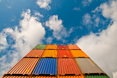 Container viewed from below Royalty Free Stock Photos