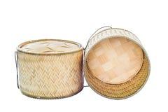 Container voor kleverige rijst Stock Afbeelding