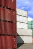 Container in voorraad Stock Foto