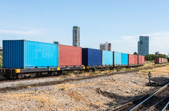 Container wagon Royalty Free Stock Image