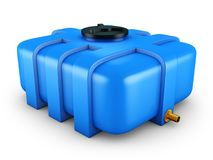 Container for water. The water tank is blue. 3d rendering Royalty Free Stock Images