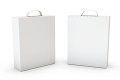 Container on White. Two boxes isolated over a white background vector illustration