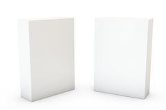 Container on White. Two boxes isolated over a white background stock illustration