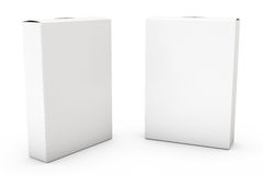 Container on White. Two boxes isolated over a white background royalty free illustration