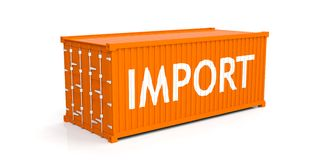 Container on white background. 3d illustration Royalty Free Stock Photo