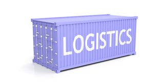Container on white background. 3d illustration Royalty Free Stock Photography